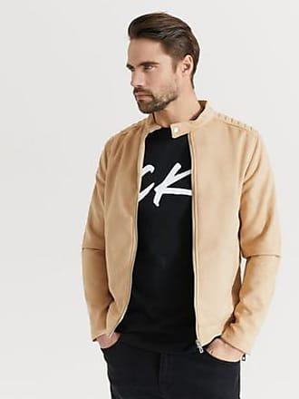 brun jacka herr läderimitation