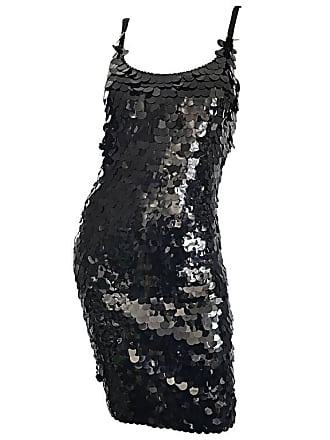 b9e6bae9de9a Saks Fifth Avenue Vintage Saks Fifth Avenue Sz 8 Black Pailletes Sequined  Beaded 90s Bodycon Dress