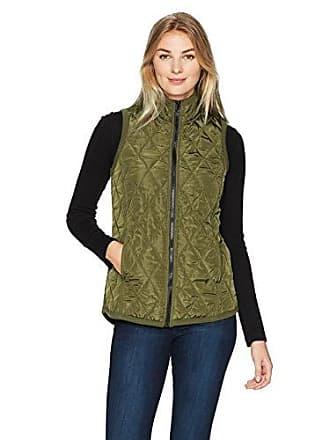 Karen Kane Womens Quilted Vest, sage, L