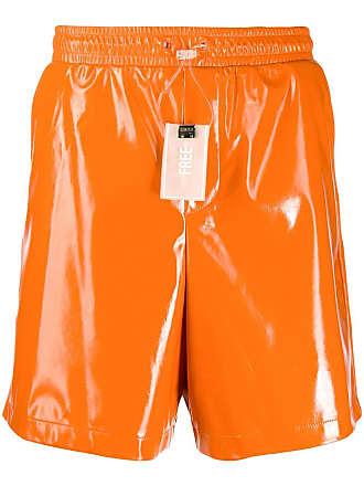 WWWM - What We Wear Matters Short slim com ajuste no cós - Laranja
