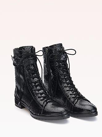 Alexandre Birman Evelyn Exotic Bootie - 35.5 Black Python Leather
