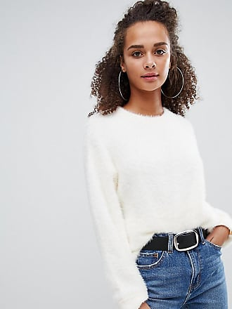 Bershka longline sweater - Cream