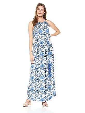 Karen Kane Womens Halter Maxi Dress, Print, Medium