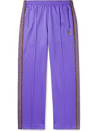 35b7ff0054c2ee Needles Glittered Webbing-trimmed Tech-jersey Track Pants - Purple