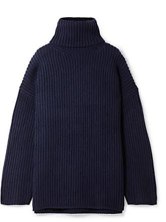 8612813a66 Acne Studios Oversized Wool Turtleneck Sweater - Navy