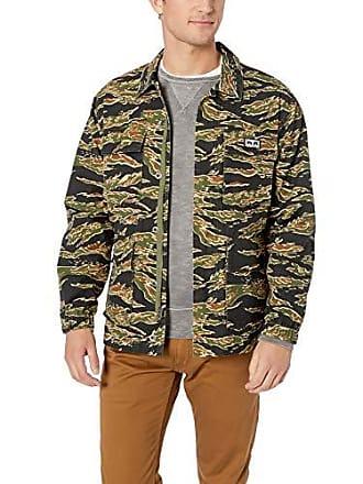 Obey Mens Looming BDU Jacket, Tiger camo, Medium