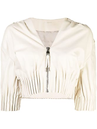 Yigal AzrouËl cropped ruched jacket - Neutrals