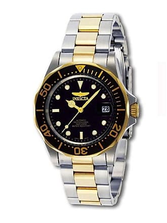 Zales Mens Invicta Pro Diver Automatic Two-Tone Watch with Black Dial (Model: 8927C)