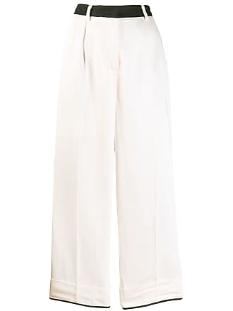 8pm contrast wide leg trousers - Pink