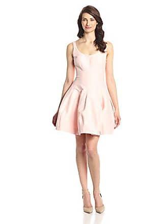 Halston Heritage Womens Silk Faille Tulip Dress, Dusty Pink, 8