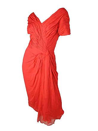 427bbf8fd5 Ceil Chapman Iconic Red Silk Chiffon Cocktail Dress