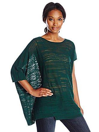 Joan Vass Womens Asymmetric Sweater, Green, 1