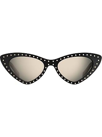 Moschino rhinestone embellished sunglasses - Black