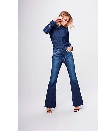 Damyller Calça Boot Cut Jeans com Cintura Alta Tam: 34 / Cor: BLUE