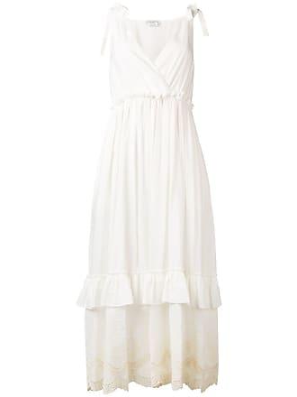 Ballantyne Vestido longo decote V - Branco