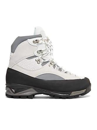 d54e5e57a0d Ganni + Diemme Sarai Leather And Suede Ankle Boots - White