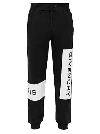 e8e5b759c400 Givenchy Logo Embroidered Cotton Track Pants - Mens - Black
