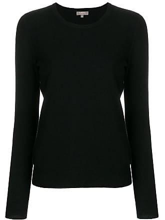 N.Peal Suéter de cashmere decote arredondado - Preto