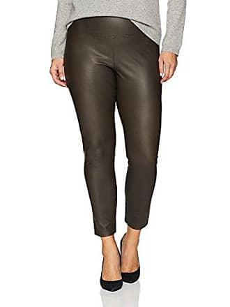 Lyssé Womens Plus Size Vegan Leather Legging, Espresso, 3X