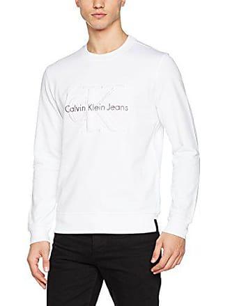 902bbc5fd29fb Calvin Klein Jeans Hasto 3 Slim CN Hknit LS, Felpa Uomo, Bianco (Bright