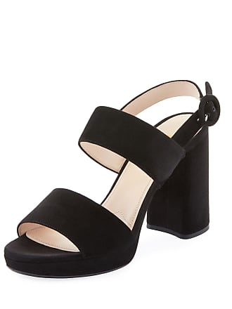 8640860b63d Prada Suede Slingback Block-Heel Platform Sandals