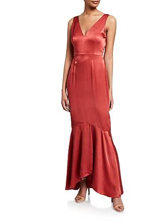 9e09133e75d Donna Mizani Florence V-Neck Sleeveless Satin Mermaid Gown