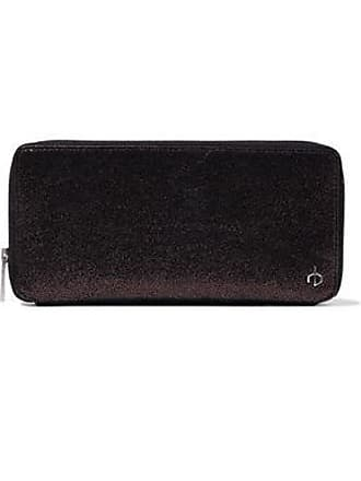 Rag & Bone Rag & Bone Woman Metallic Brushed-leather Wallet Chocolate Size