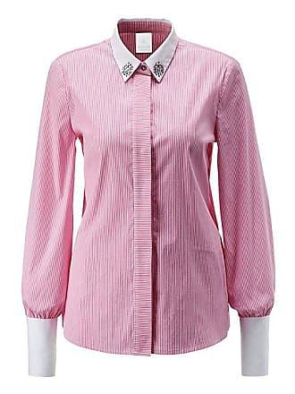 56d34e16a394a3 Madeleine Stretch-Bluse mit feinem Streifen-Muster Damen magenta/weiss / rot