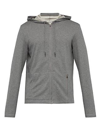 Falke Zip Through Hooded Sweatshirt - Mens - Grey