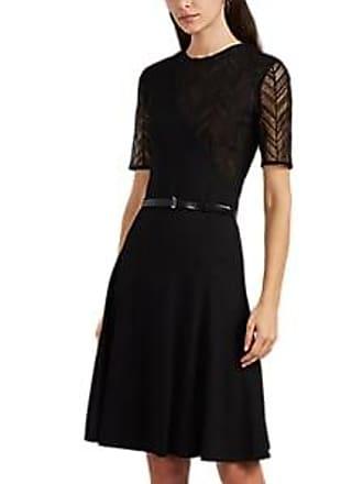 4ad247e7752e Jason Wu Womens Lace-Inset Ponte Belted Fit & Flare Dress - Black Size 8