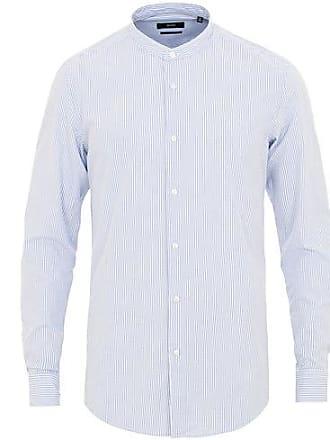 2716a6688 BOSS Jordi Seersucker Slim Fit Grandad Shirt Light Blue