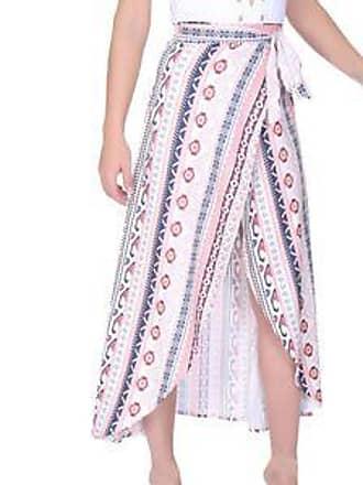Lola Swimwear Falda con Cruce Frontal y Estampado Geométrico<br>Multicolor