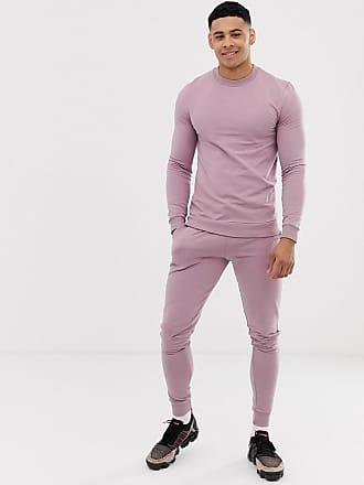 1a112eab9c5c Asos Chándal con sudadera ajustada y joggers muy ajustados en violeta mate  de ASOS DESIGN