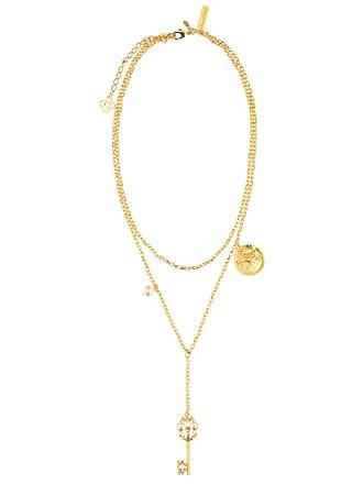 Oscar De La Renta Embellished charm necklace