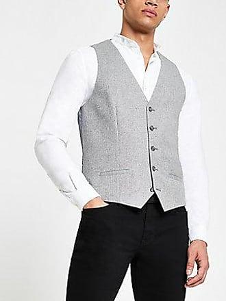River Island Mens Grey suit vest