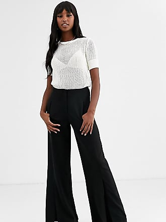 Y.A.S. Tall straight leg trousers-Black