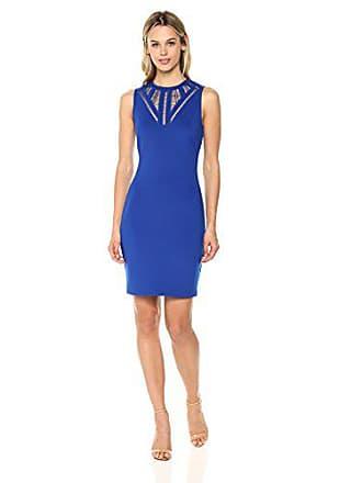 Guess Womens Cobalt Scuba Dress with A Fun Neckline Detail, 2