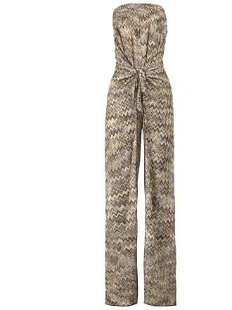 7c07126b03a Missoni Strapless Crochet Knit Wide Open Leg Belted Jumpsuit Overall