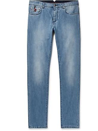 Isaia Slim-fit Stretch-denim Jeans - Indigo