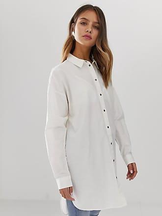 Noisy May Camicia lunga-Bianco