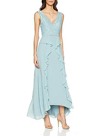 e061aab0d69 Little Mistress Clarita Blue Plunge Maxi Dress with Lace Robe