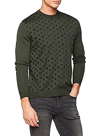 0e9641633060 Versace Jeans Man Knitted Sweater, Pull Homme, Vert (Timo E129), Large