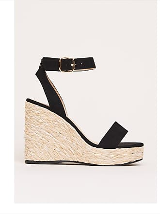 Dynamite Wedge Sandal Jet Black