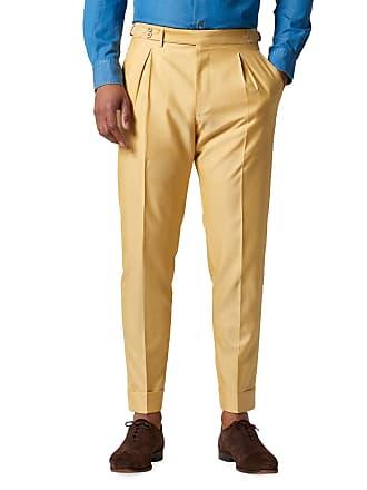 Zanella Mens Nico Silk-Blend Pleated Trousers