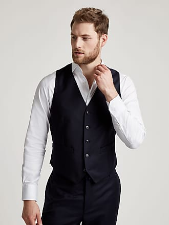 Hackett Mens Plain Wool Waistcoat | Size 36Regular | Charcoal