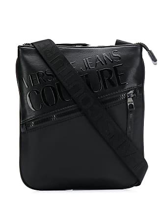 Versace Jeans Couture Bolsa carteiro com estampa de logo - Preto