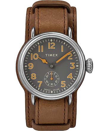 Timex Watch Mens Welton 38MM Leather Strap Stainless Steel/brown/gray Item Tw2R88000Vq