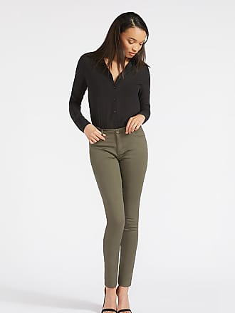 Alloy Apparel Tall Skinny Basic Twill Plus Size Pants for Women Olive 15/35 - Cotton