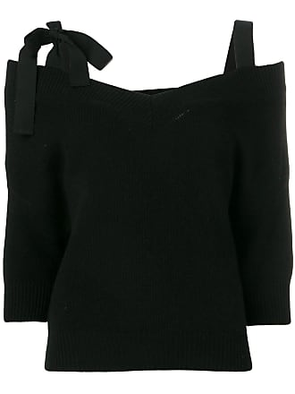Red Valentino bow detail knitted top - Preto