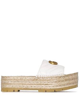 679f1350e8c Gucci Pilar 50 espadrille flatform sliders - White